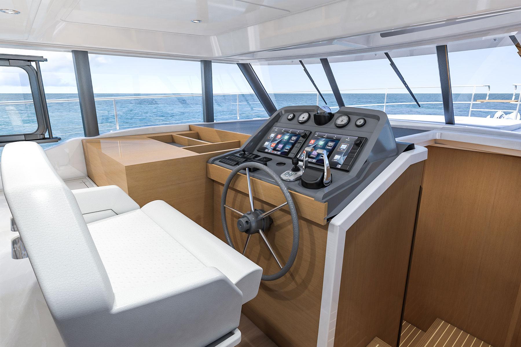 Beneteau Swift Trawler 47 — Lower Helm